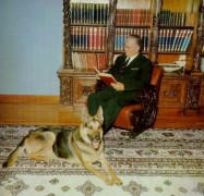 Archive photo of Josip Broz Tito and his German Shepherd named Tigar. Courtesy of Dragan.